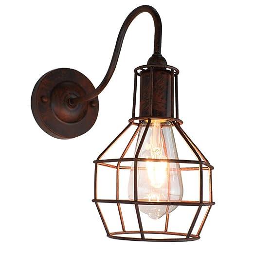 MoiHL Lámpara de Pared de Hierro, lámpara de Pared Industrial ...