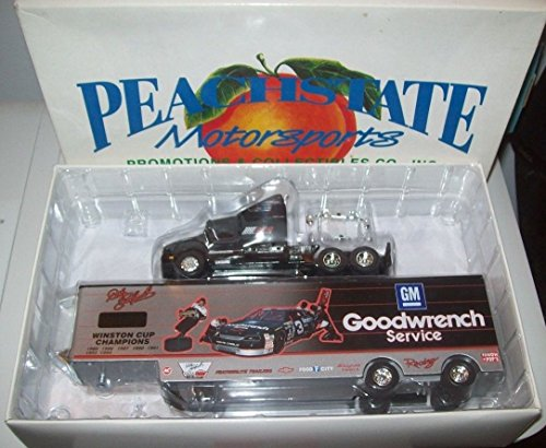 Peachstate Motorsports All Metal Dale Earnhardt Sr #3 Seven Time Champion Diecast Hauler Trailer Tractor Trailer Semi Truck Rig 1/64 Scale Limited Edition Only 2500 Made ()