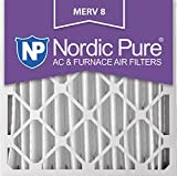 Nordic Pure 24x24x4M8-1 MERV 8 Pleated AC Furnace Air Filter, 24x24x4, Box of 1
