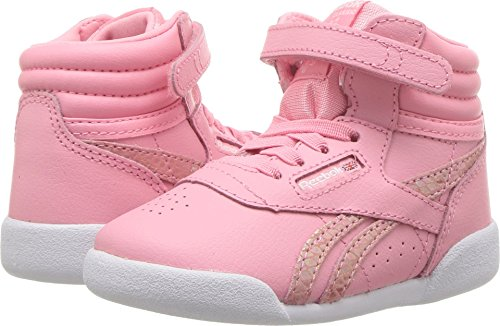 Reebok Baby F/S Hi Spring Cross Trainer, Pink/White, 7.5 M US Infant (Spring Watch Mid)