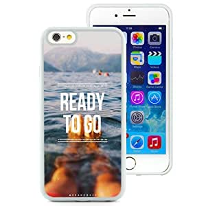 NEW Unique Custom Designed iPhone 6 4.7 Inch TPU Phone Case With Ready To Go Swimming_White Phone Case