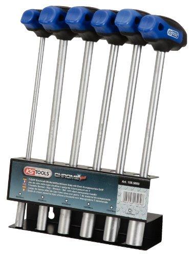 KSツール158.5000クロム+ t-handleソケットキーセット、KSツールで6pcs B01HR4HW4I