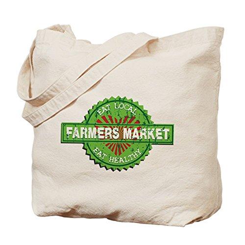CafePress–de los agricultores mercado corazón–Gamuza de bolsa de lona bolsa, bolsa de la compra