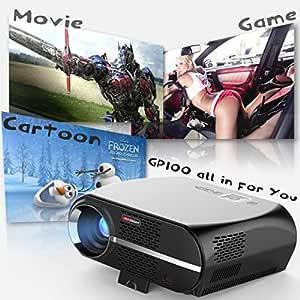 Proyector de cine en casa, hunpta GP100 LCD proyector de vídeo w ...