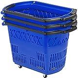 Mophorn 3PCS Shopping Carts, Blue Shopping