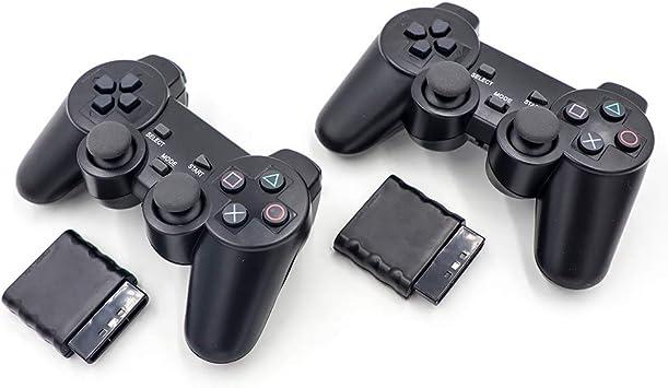 Juego de control de vibración RF inalámbrico, 2 unidades, para Playstation 2 PS2: Amazon.es: Electrónica