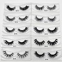 Eyelashes Makeup Lashes Natural Long Crisscross Mink Collection Cruelty Free False Eyelashes Dramatic Soft Full Lashes (D120)