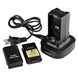Insten Black Dual Battery Charger Charging Station Compatible With Xbox360
