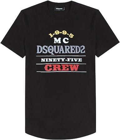 Dsquared2 MC Crew impresión gráfica Camiseta Negra Black ...