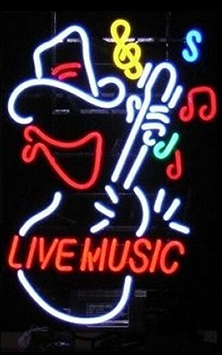Live Music Guitar Neon Sign 17