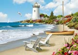 Ravensburger Sunlit Shores Large Format 300 Piece Jigsaw Puzzle for Adults - Every Piece is Unique, Softclick Technology Means Pieces Fit Together Perfectly