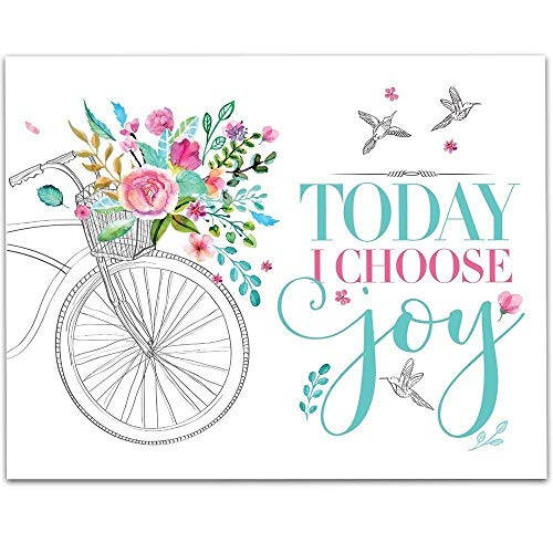 Today I Choose Joy - 11x14 Unframed Typography Art Print - Great Inspirational Gift Under $15 from Personalized Signs by Lone Star Art