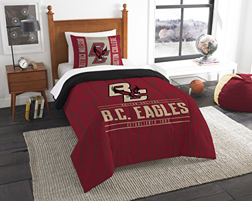 - Northwest Officially Licensed NCAA Boston College Golden Eagles Modern Take Twin Comforter and Sham