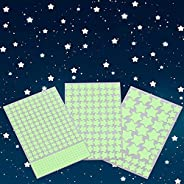 Aooyaoo Glow in The Dark Stars Wall Stickers, Glowing Stars for Ceiling and Wall Decals, 3D Glowing Stars,Excl