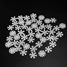 Tinksky Glow in the Dark Snowflakes Decals Christmas Wall Stickers Window Clings 50pcs