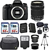 Canon EOS Rebel T6s 24.2MP Digital SLR Camera with EF-S 18-135mm IS STM Lens - Wi-Fi Enabled + Deluxe Camera Case + 2pc 32gb Memory Cards + High Speed Memory Card Reader + 12pc Accessory Kit