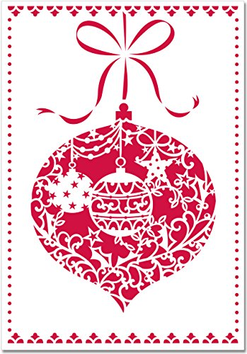 Ornament Laser Cut Holiday Cards (Christmas Cards, Greeting -
