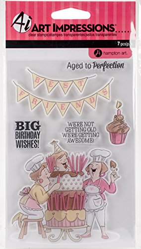 (Hampton Art Big Birthday Wishes Art Impressions Clear Rubber Stamps (SC0794))