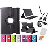 """Funda giratoria para Tablet Bq Edison 3 Quad Core 10.1"""" Color: Morado + Accesorios 6 en 1"""