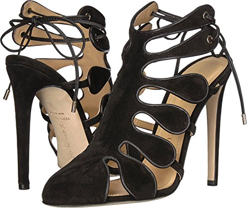 Chloe Gosselin Women's Calico Calf Suede Closed Toe Heel Black 39 M EU