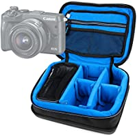 Protective EVA Camera Case (in Blue) - Compatible with the Canon EOS M6 Camera - by DURAGADGET