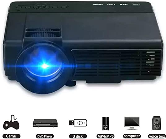 Mini proyectores Mini proyector LED, 1000 lúmenes Entretenimiento ...