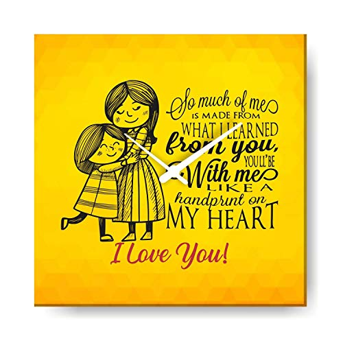 Giftsmate Mom You are a Handprint on My Heart Wall Clock Canvas Home Decor - 12X12 inches]()
