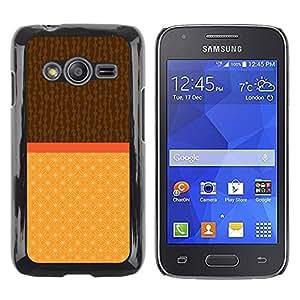 LECELL--Funda protectora / Cubierta / Piel For Samsung Galaxy Ace 4 G313 SM-G313F -- Two Tone Brown Beige --