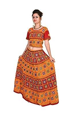 itsindiancrafty Readymade Chaniya choli Multicolor ghagra Free Size for girls 200