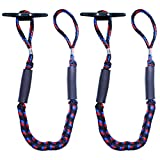 Botepon 2Pcs Boat Dock Line, Bungee Cords for Boats, Boating Gifts for Men, Boat Accessories, Pontoon Accessories, Perfect for Jet Ski, SeaDoo, WaveRunner, Kayak, Pontoon (4 , 5 , 6  Length)