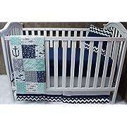 Baby Boy / Girl Chevron , Baby Bedding , Nautical , Sea , Anchor, Crib Bedding , Nursery Room , Babylooms