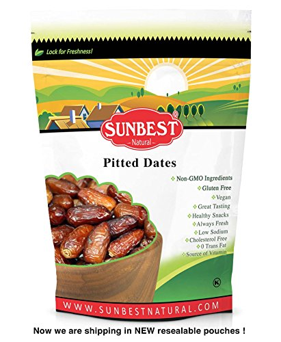 SUNBEST Dried Pitted Dates, Deglet Noor ( 5 Lb)