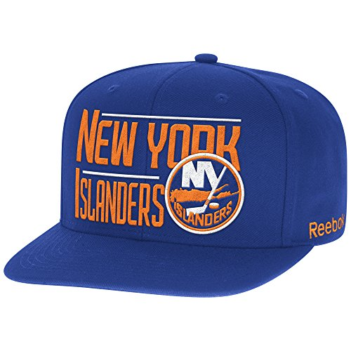 NHL New York Islanders Men's High Box Flat Brim Snapback Cap, One Size, Royal ()