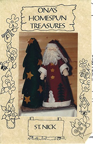 Ona's Homespun Treasures Pattern - ST. NICK - 24