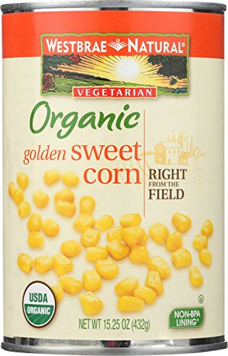 Westbrae Natural Organic Whole Kernel Golden Corn, 15.25 Ounce
