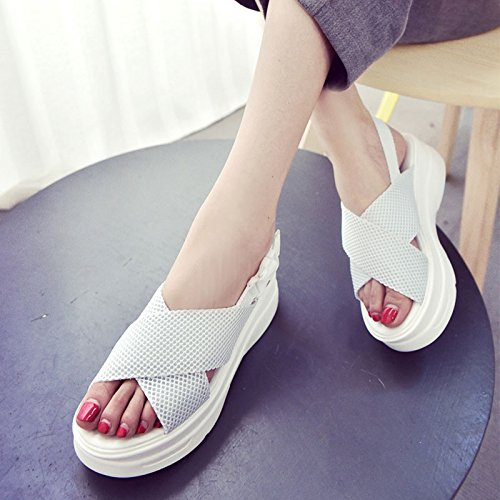 Sandals Casual Summer Women Soles Sneakers Comfortable Shoes Lin Breathable Ladies Xing White Beach Thick Sandals New qOCxEW8