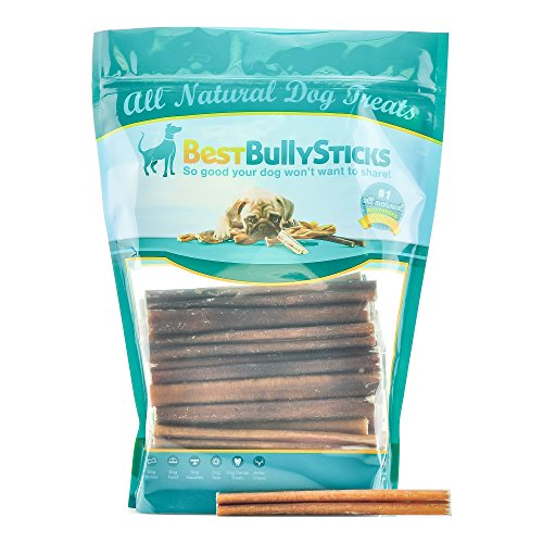 Cheap Best Bully Sticks 6-inch Supreme Bully Sticks, Free-Range, Grass-Fed Beef, Superior Rawhide Alternative, 50 pack