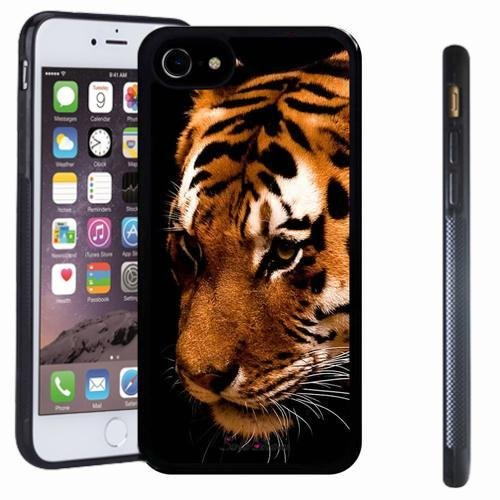 iphone 7 case, SoloShow(R) Slim Shockproof TPU Soft Case Rubber Silicone for Apple iphone 7 [ tiger King] (Simple Halloween Face Paint For Guys)