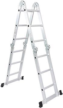 Escalera Escaleras de mano plegables, Escalera de múltiples funciones del hogar, multi-uso de las escaleras, tubo grueso estupendo de aluminio, 330 libras Rango de Trabajo (Size : 12 Step Ladders): Amazon.es: Bricolaje