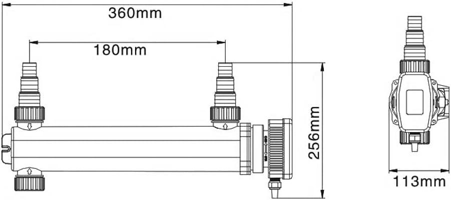 SunSun Sterilizzatore UV a Acqua per Laghetto CUV 318
