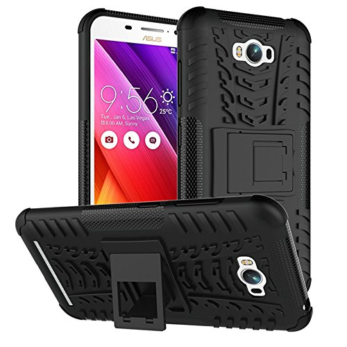 ZenFone Max Case,XYX [Black] [Kickstand][Shock Absorption] Dazzle Bracket Dual Layer Defender Protective Case Cover for Asus ZenFone Max