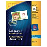 Wholesale CASE of 15 - Avery Magnetic Inkjet Business Cards-Business Cards,f/Inkjet Printers,Magnetic,2''x3-1/2'',30/PK,WE