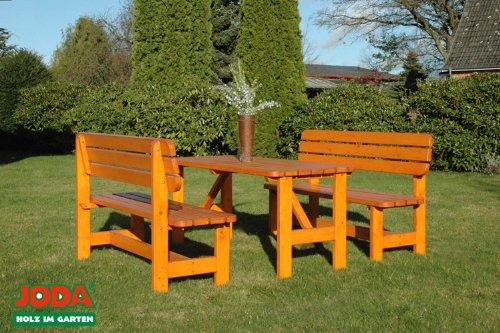 JODA Gartengarnitur Gartensitzgruppe Bank Gartentisch Sitzgruppe massiv Holz Neu