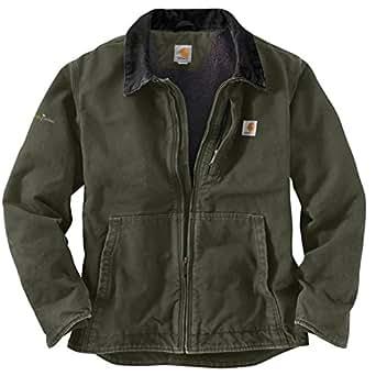 Carhartt Men's 101692 Full Swing™ Sandstone Jacket - Sherpa Lined - 2X-Large Tall - Moss