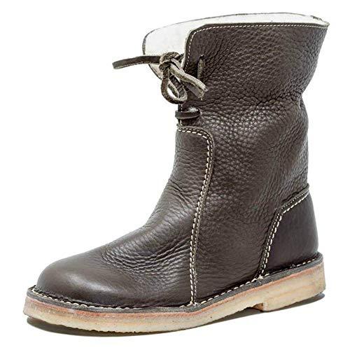 Flat Low Casuales Women's Mujeres De Wild Boots Botas Student Booties Khaki Comfortable Winter Las TwYAAF