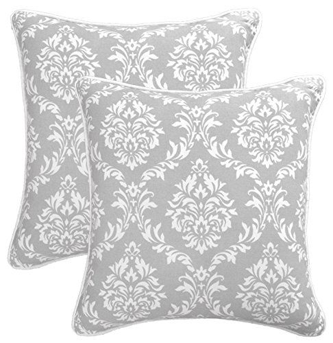Bath Bed Decor 2 Packs Throw Pillow Covers 100% Cotton Decor
