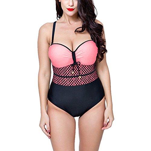 Spiaggia Viaggio Regolabile Rosa Costume Bagno Plus Con Abbigliamento Size Da Donna Merryhe Per La Swimdress Estivo Cinturino Imbottito wO1qyA
