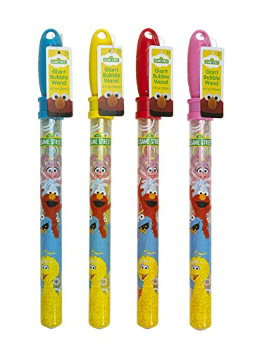 Little Kids Sesame Street Giant Bubble Wand Set (4 Piece)