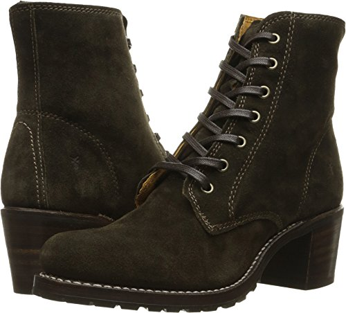 Suede Oiled Boots - FRYE New Women's Sabrina 6G Lace Up Boot Fatigue Oiled Suede 6