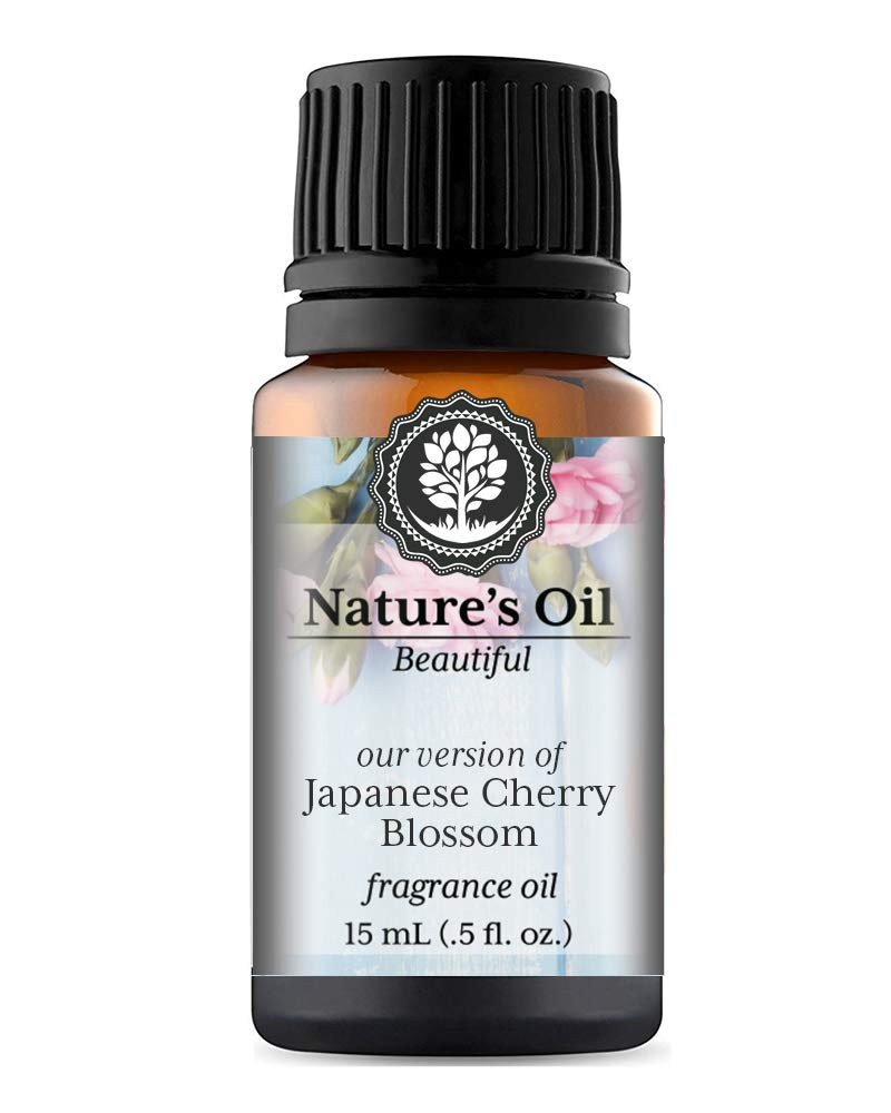 Japanese Cherry Blossom Fragrance Oil (15ml) For Perfume, Diffusers, Soap Making, Candles, Lotion, Home Scents, Linen Spray, Bath Bombs, Slime